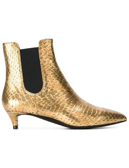 Ash | Женские Серебристые Ботинки С Отделкой Металлик