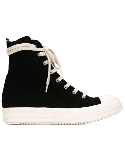 RICK OWENS DRKSHDW | Чёрный Side Zip Hi-Top Sneakers
