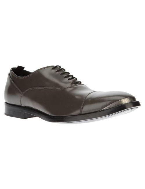 Alexander McQueen | Серый Toe Cap Detail Oxford Shoe