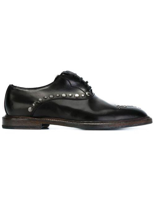 Dolce & Gabbana | Мужское Чёрный Studded Oxford Shoes