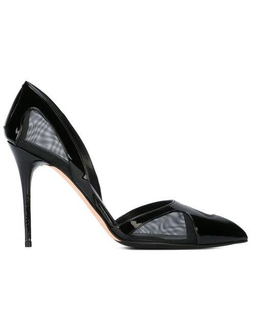 Alexander McQueen | Женские Чёрные Туфли С Сетчатыми Панелями