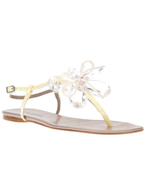 Anna Baiguera | Женское Белый Gem Flower Sandal
