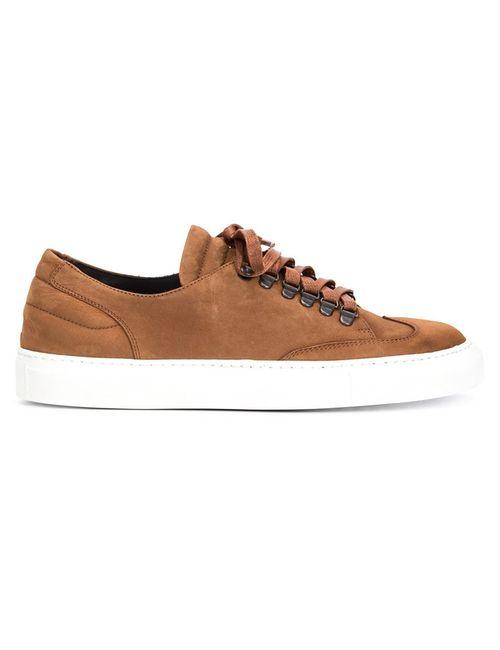 VALAS | Коричневый Stitched Panel Sneakers