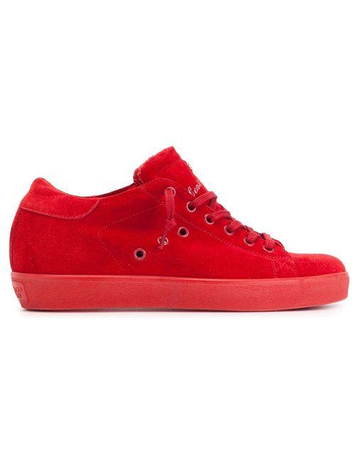 Leather Crown | Женские Красные Кеды С Логотипом