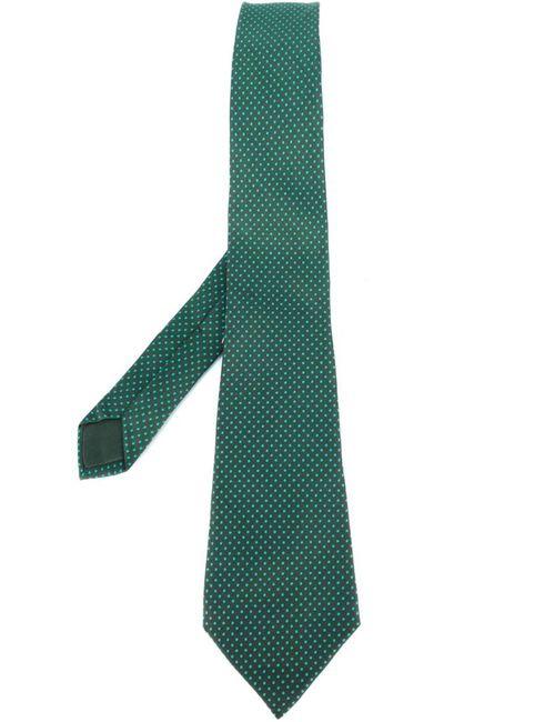 Hermès Vintage | Мужское Зелёный Polka Dot Print Tie