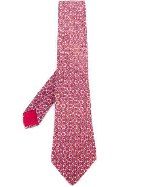 Hermès Vintage | Мужское Розовый Quatrefoil Print Tie