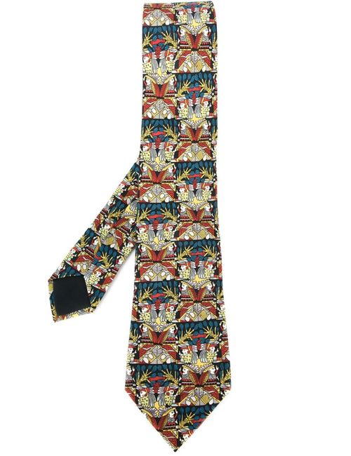 Hermès Vintage | Мужское Многоцветный Native American Print Tie