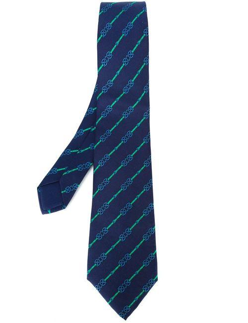 Hermès Vintage | Мужское Синий Striped Print Tie
