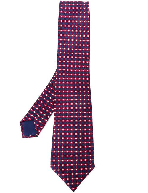 Hermès Vintage | Мужское Синий Lattice Print Scarf