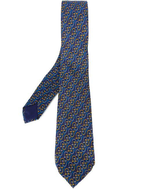 Hermès Vintage | Мужское Синий -Tone Print Tie