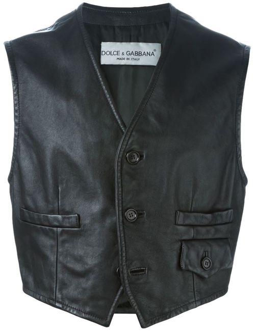 Dolce & Gabbana | Мужское Чёрный Buttoned Gilet