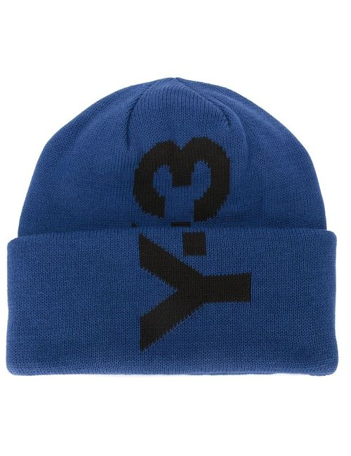 Y-3 | Женские Синие Шапка-Бини С Логотипом