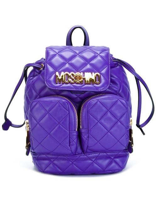 Moschino | Женский Розовый Рюкзак Со Стеганым Эффектом