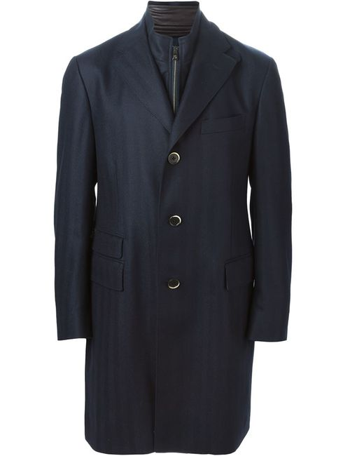 Corneliani | Мужское Черный Однобортное Пальто