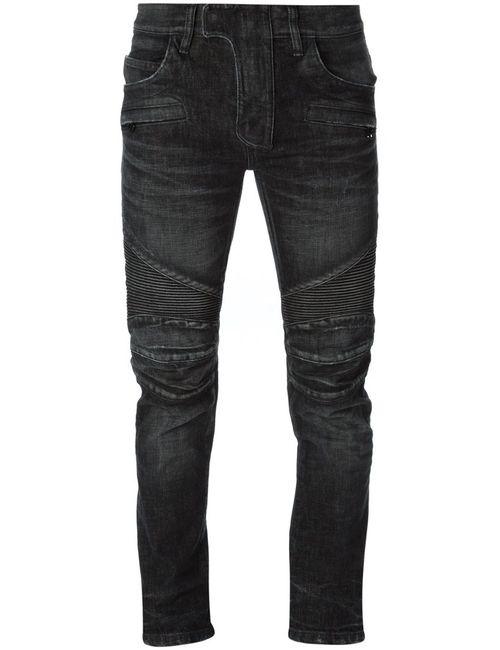 Balmain | Мужское Чёрный Ribbed Detail Skinny Jeans