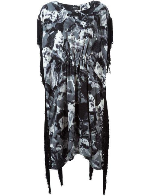 Zucca | Женское Серое Длинное Платье С Принтом