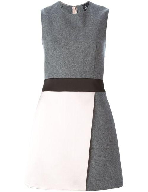 Mcq Alexander Mcqueen | Женское Серое Короткое Платье С Панельным Дизайном