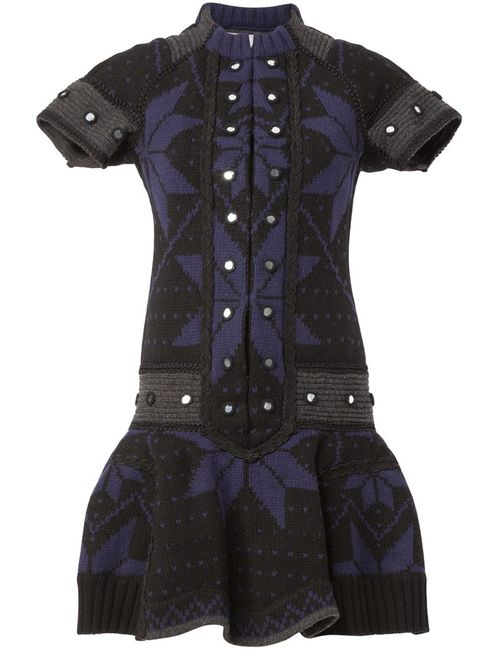 Sacai | Женское Синий Pleated Knit Dress