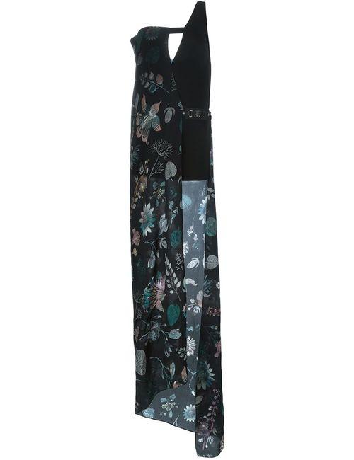 Versus | Женское Черный Layered Print Maxi Dress