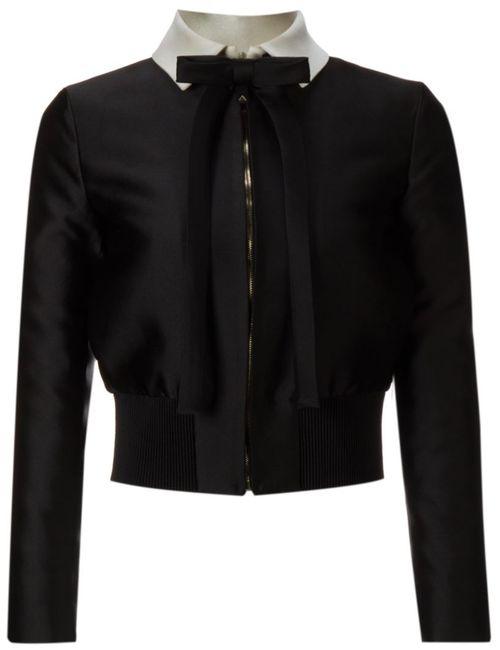 Valentino | Женская Чёрная Укороченная Куртка