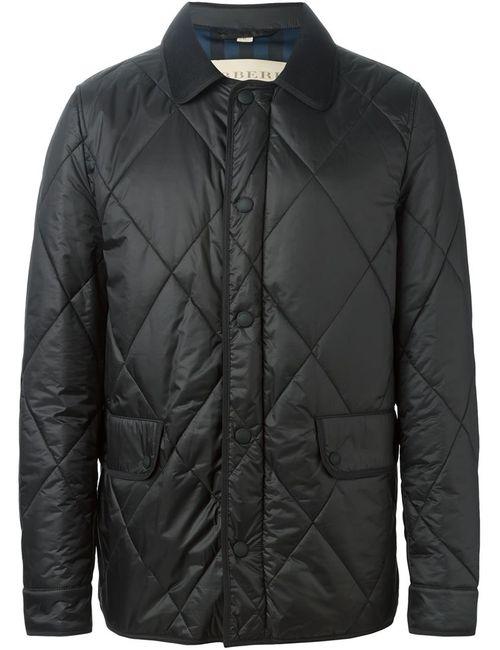 Burberry Brit   Мужская Чёрная Стеганая Куртка