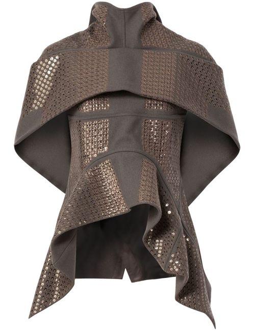Rick Owens | Женское Серый Sequinned Asymmetric Jacket