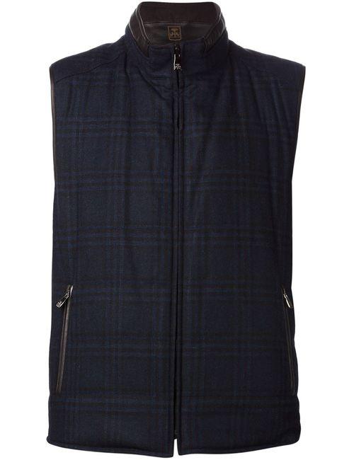 Corneliani   Мужское Синий Reversible Zip Vest