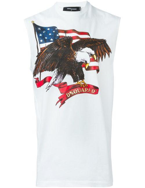 Dsquared2 | Белый Sleeveless T-Shirt