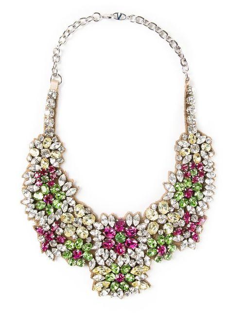 Valentino Garavani | Женское Многоцветный Embellished Bib Necklace