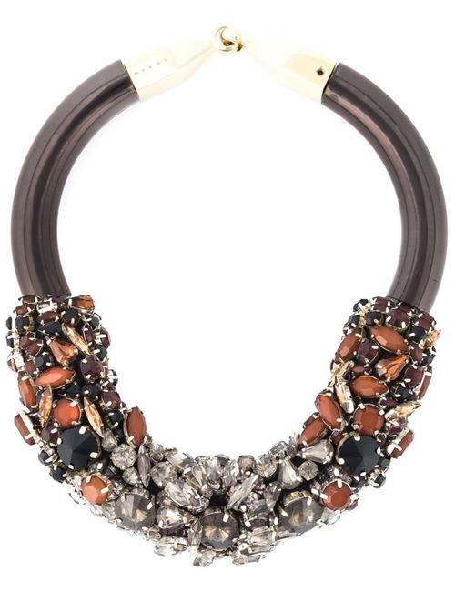 Marni | Женское Многоцветное Декорированное Ожерелье-Чокер