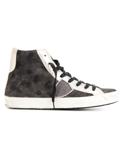Philippe Model | Женское Чёрный Panelled High-Top Sneakers