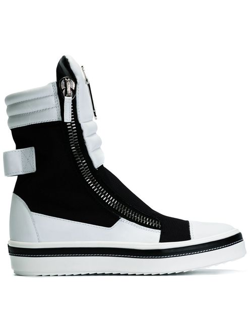 Giuseppe Zanotti Design | Чёрный Colour Block Hi-Top Sneakers