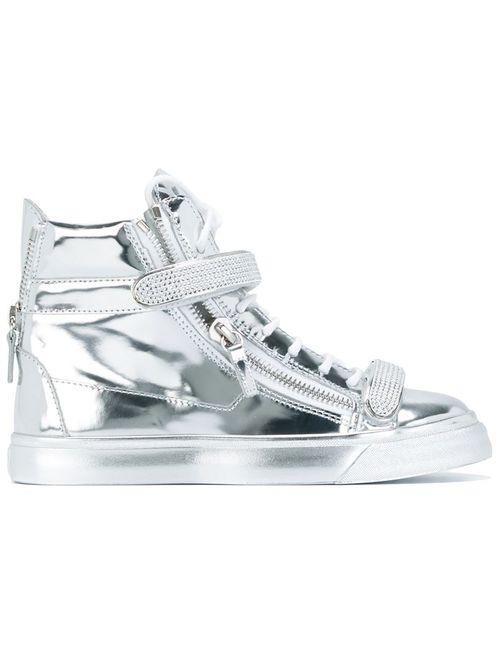 Giuseppe Zanotti Design | Серебристый Hi-Top Sneakers