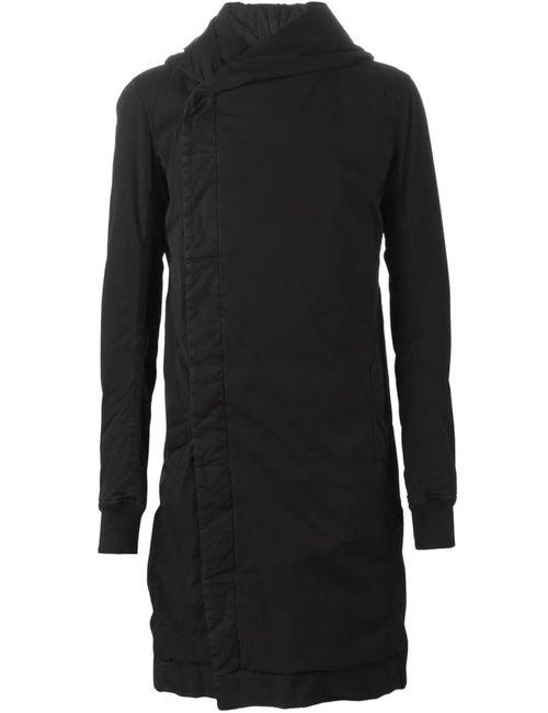 RICK OWENS DRKSHDW | Мужское Чёрное Пальто С Капюшоном