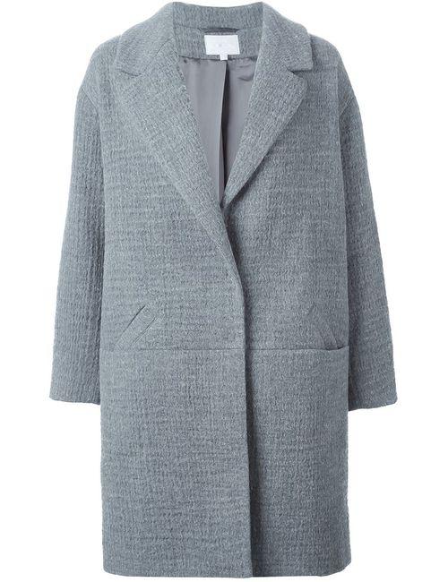 Lala Berlin   Женское Серое Однобортное Пальто
