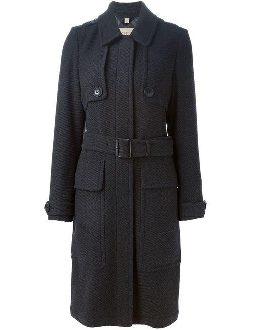 Burberry Brit | Женское Серое Пальто С Поясом