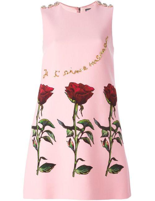 Dolce & Gabbana | Женское Розовый Applique Dress