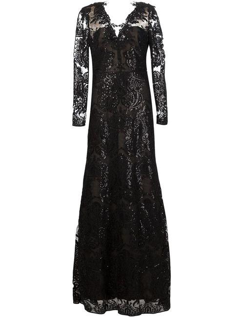 Marchesa Notte | Женское Чёрный Embroidered Sequin Gown