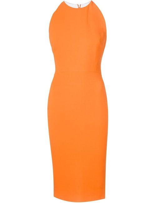 Victoria Beckham | Женское Желтый Fitted Midi Dress