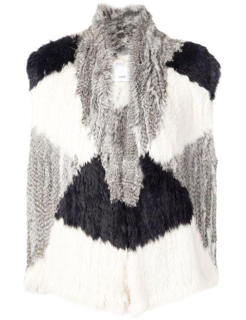 Vince | Женское Серый Rabbit Fur Gilet