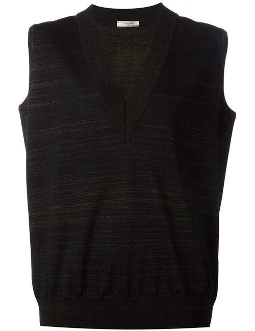 Bouchra Jarrar | Женское Черный V Neck Striped Vest