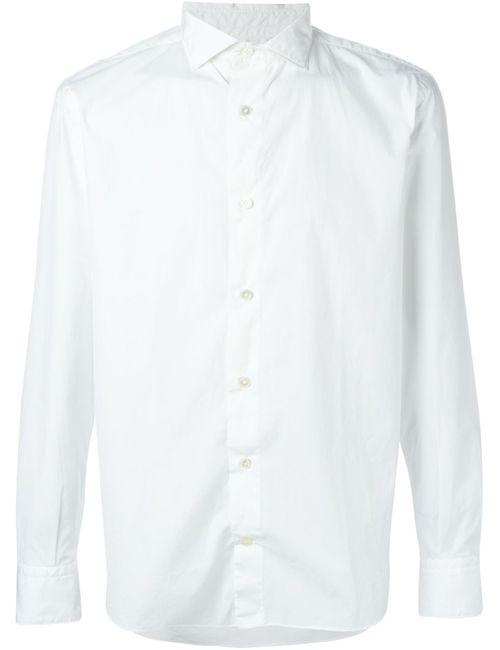 Eleventy | Мужская Белая Классическая Рубашка