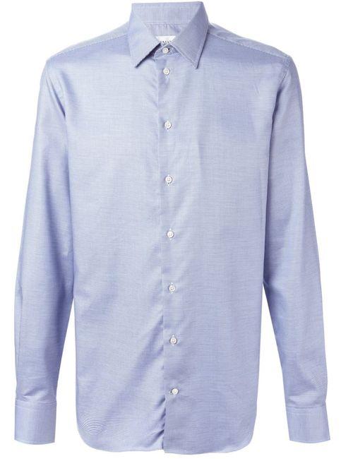 Armani Collezioni   Мужская Синяя Классическая Рубашка
