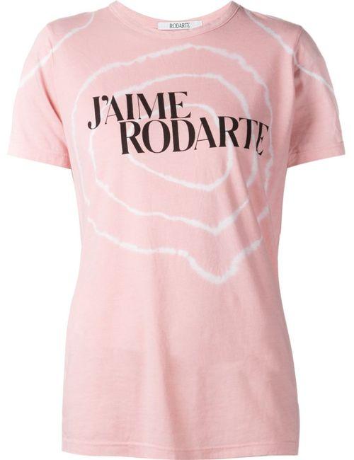 Rodarte | Женская Розовая Футболка С Принтом