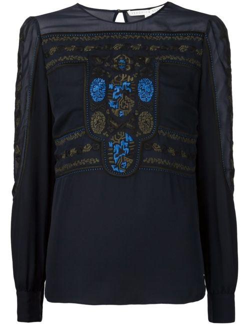 Veronica Beard | Женская Синяя Блузка С Вышивкой