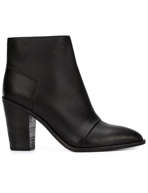 Vince | Женские Чёрные Ботинки По Щиколотку Emnis