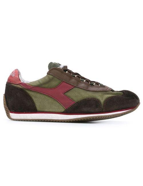 Diadora | Мужские Зелёные Кроссовки С Контрастными Панелями