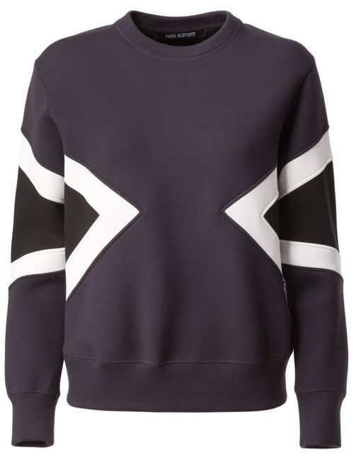 Neil Barrett | Женское Чёрный Colour Block Sweatshirt