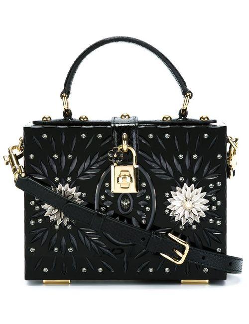 Dolce & Gabbana | Женская Чёрная Декорированная Сумка-Тоут