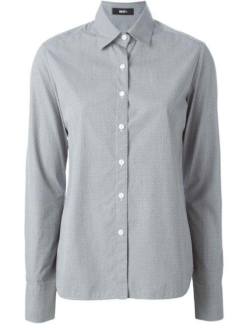 BEST+ | Женская Серая Классическая Рубашка